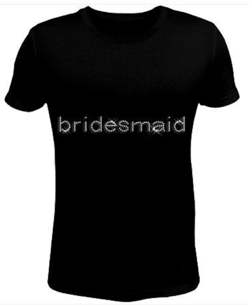 Bling Rhinestone Womens T Shirt Bridemaid JRW-166