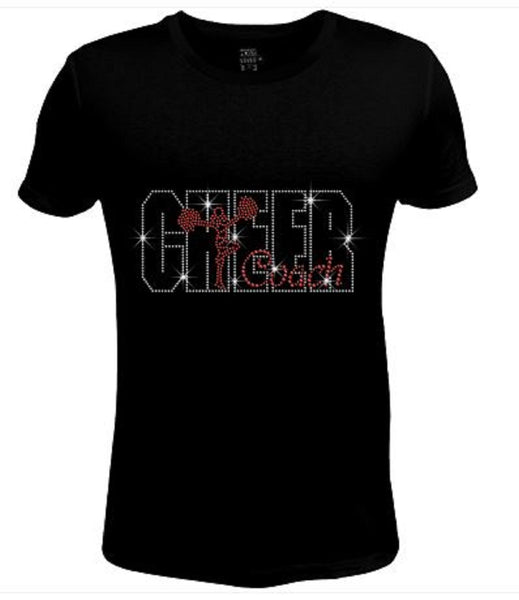 Bling Womens T Shirt Cheer Coach JRW-409-SC