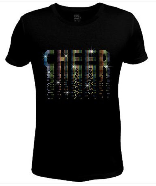 Bling Womens T Shirt Colorful Cheer JRW-473-SC