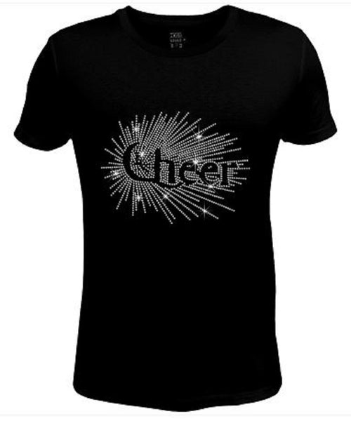 Bling Womens T Shirt Stellated Crystal Cheer JRW-429-SC