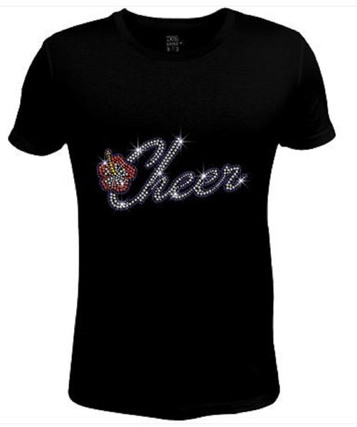 Bling Womens T Shirt Cheer JRW-439-SC