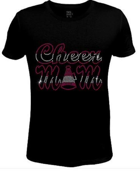 Bling Womens T Shirt Cheer Mom Red JRW-437-SC