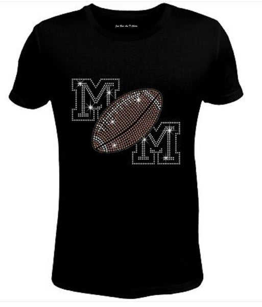 Bling Womens T Shirt Cool Mom Football JRW-665-sc