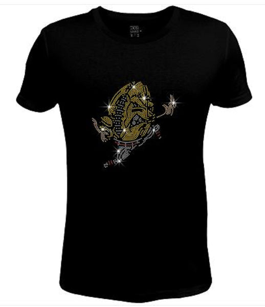 Bling Womens T Shirt Football Head JRW-639-sc