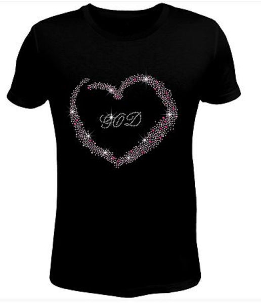 Bling Rhinestone Womens T Shirt God JRW-238-SC