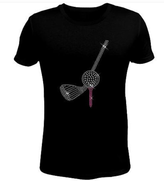 Bling Rhinestone Golf T-Shirt-SC-SPO-124