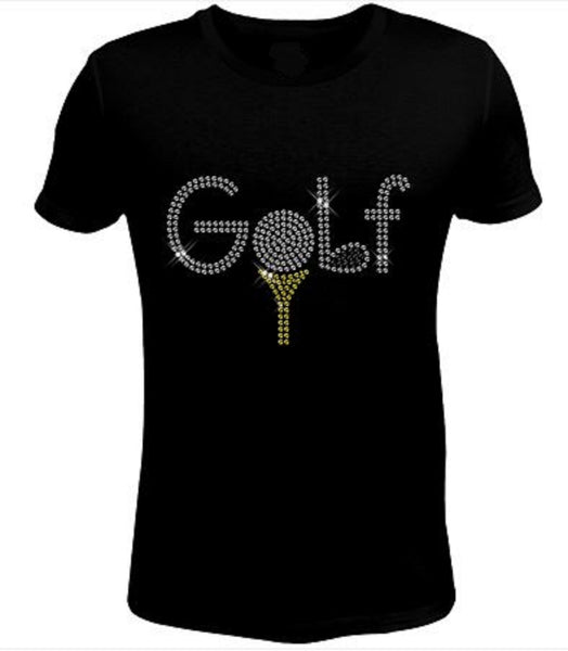Bling Rhinestone Golf T-Shirt-SC-SPO-132