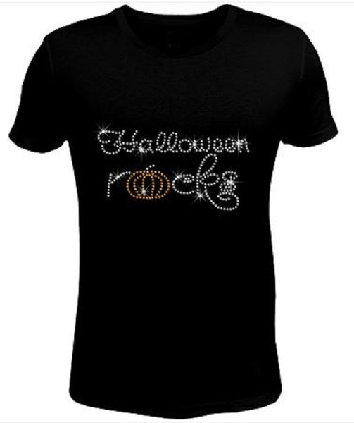 Bling Women's Halloween Rocks t Shirt HAL-046-SC