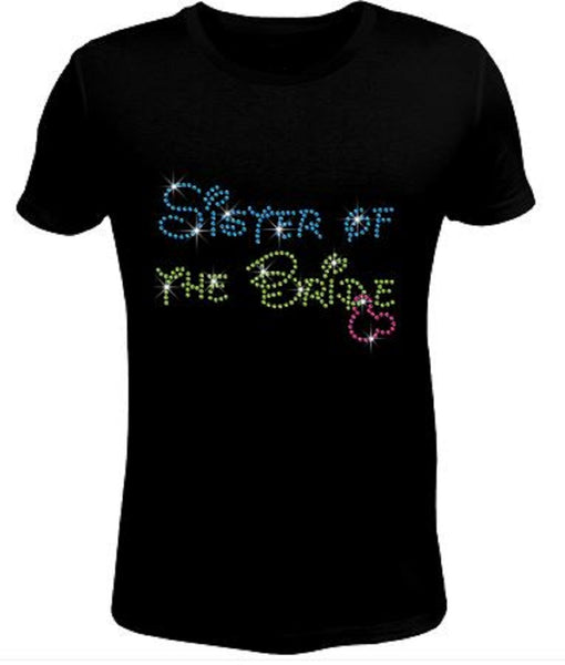 Bling Rhinestone Womens T Shirt Sister of The Bride JRW-133-SC