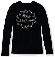 Bling Sparkling Merry Christmas Women's t shirt             XMA-444-LR