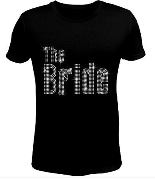 Bling Rhinestone Womens T Shirt The Bride JRW-142-SC