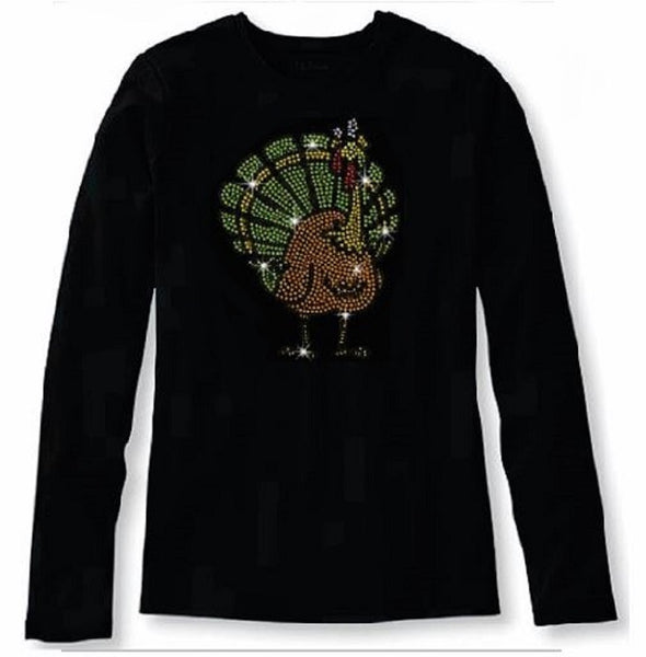 Bling Thanksgiving Funny Turkey Women's t Shirt THD-043-LR