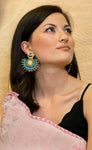Boucles D'Oreilles Saraswati Bleu / The Saraswati Blue Earring