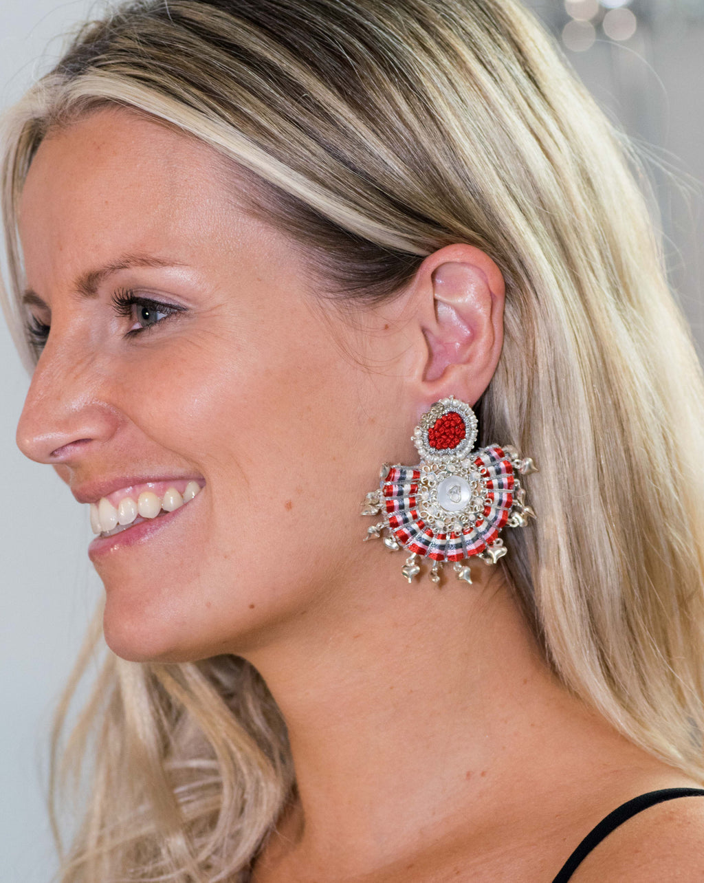 Boucles D'Oreilles Saraswati Red // The Saraswati Red Earring