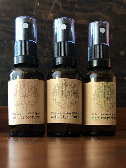 Natural Perfume Spray - Pink, Grey or Green 30ml