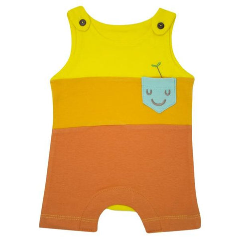 PICNIC HAPPY POCKET COLOR BLOCK ROMPER