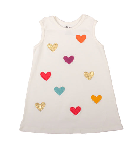 DRESS WITH POLKA HEARTS