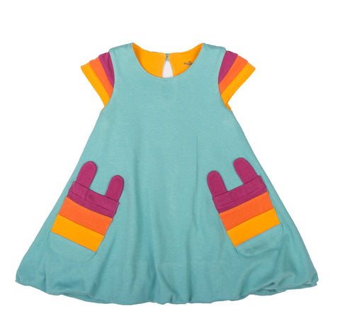 RAINBOW SLEEVE BUBBLE DRESS
