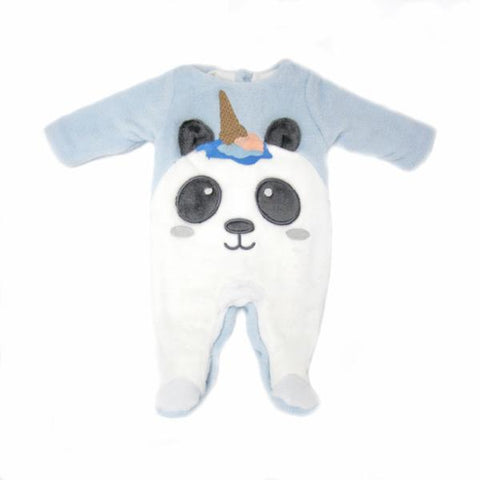 PANDA FOOTED ONE-PIECE