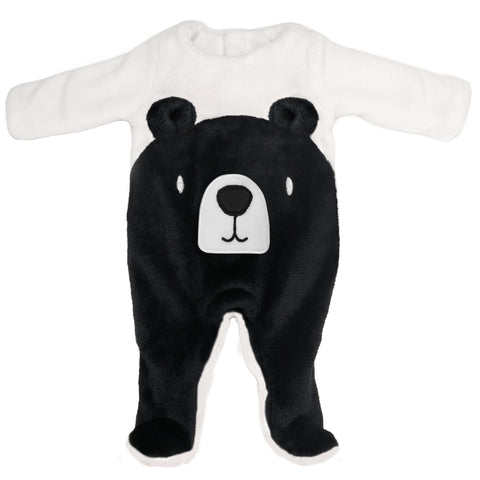 Black Bear Footed One-Piece