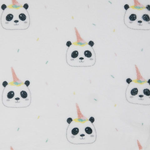 PANDA BEAR PRINT FLEECE FABRIC PER YARD (PRE SALE)