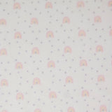 PINK RAINBOW PRINT FLEECE FABRIC PER YARD (PRE SALE)