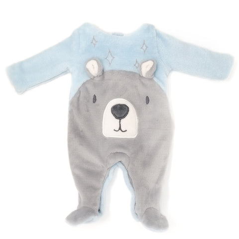 Blue Bear Footed One-Piece