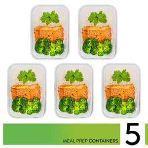 Glass Meal Prep Containers - 5-Pack (36oz)
