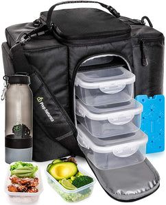 Meal Prep Bag Meal Prep Lunch Box Men - Meal Prep Lunch Bag for Men Lunch Box for Men with Containers - Meal Prep Lunch Boxes Meal Prep Backpack