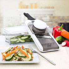 Mandoline Slicer (Adjustable) - 5 Blades - Vegetable Cutter, Peeler, Slicer, Grater & Julienne Slicer - PrepNaturals - Meal Prepping - Food Storage Containers