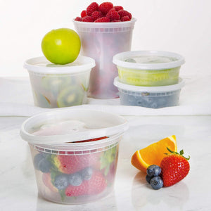 [40 Pack] Plastic Containers With Lids Set - Freezer Containers Deli Containers With Lids - Meal Prep Containers for Food Storage Containers - Plastic Food Containers by Prep Naturals [Mixed Sizes] - PrepNaturals - Meal Prepping - Food Storage Containers