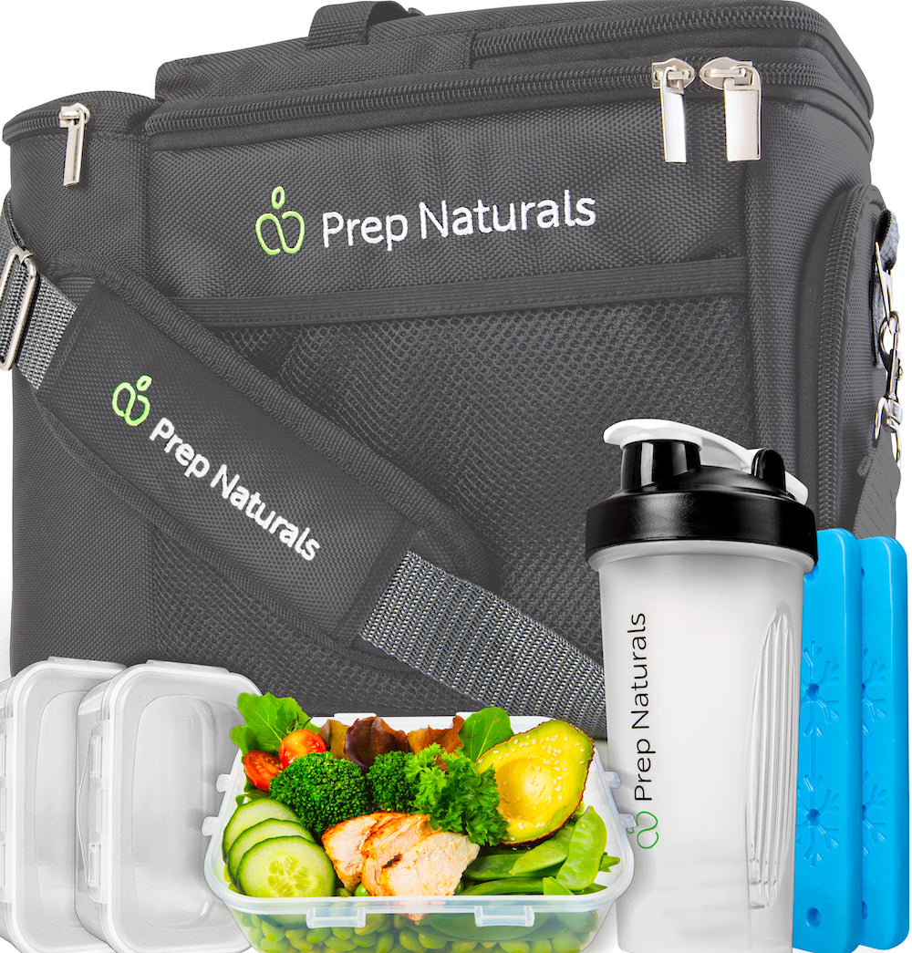 Meal Prep Bag Meal Prep Lunch Box - Meal Prep Insulated Lunch Bag for Men - Meal Prep Cooler Bag with Containers - Insulated Mens Lunch Box for Men Lunch Bags for Women Dark Gray Men's Lunch Bag - PrepNaturals - Meal Prepping - Food Storage Containers