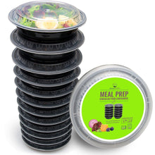 Round Meal Prep Containers [12-Pack] - PrepNaturals - Meal Prepping - Food Storage Containers