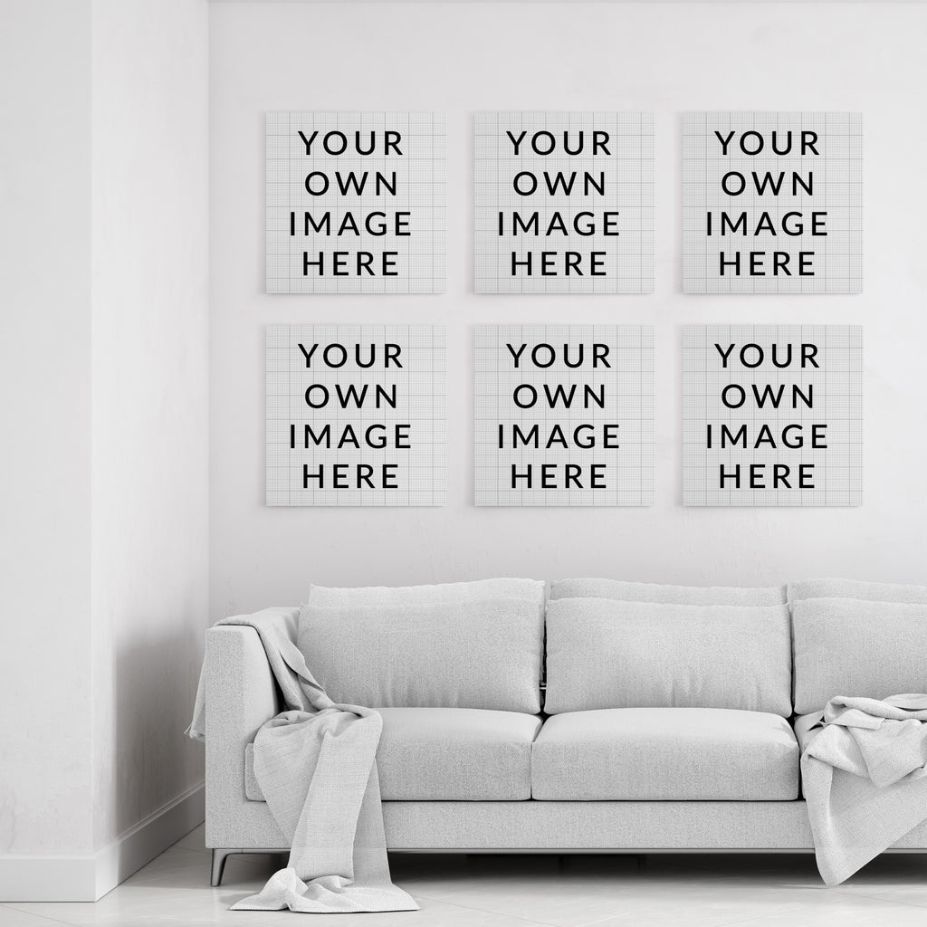 Your own images - Custom Canvas Art (6 square canvases)