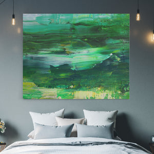 Abstract Green - Canvas Art