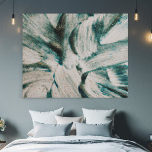 Abstract Green Brush - Canvas Art
