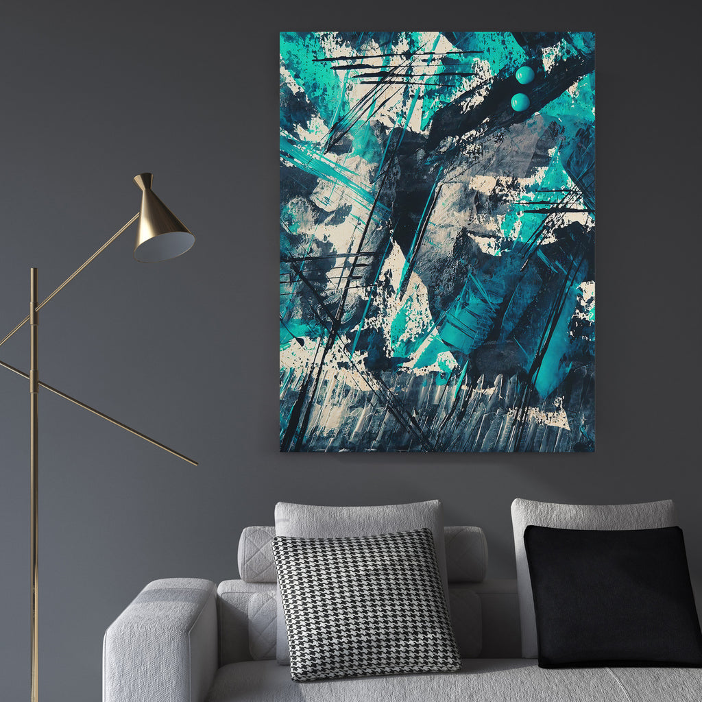 Abstract Color Mash - Canvas Art