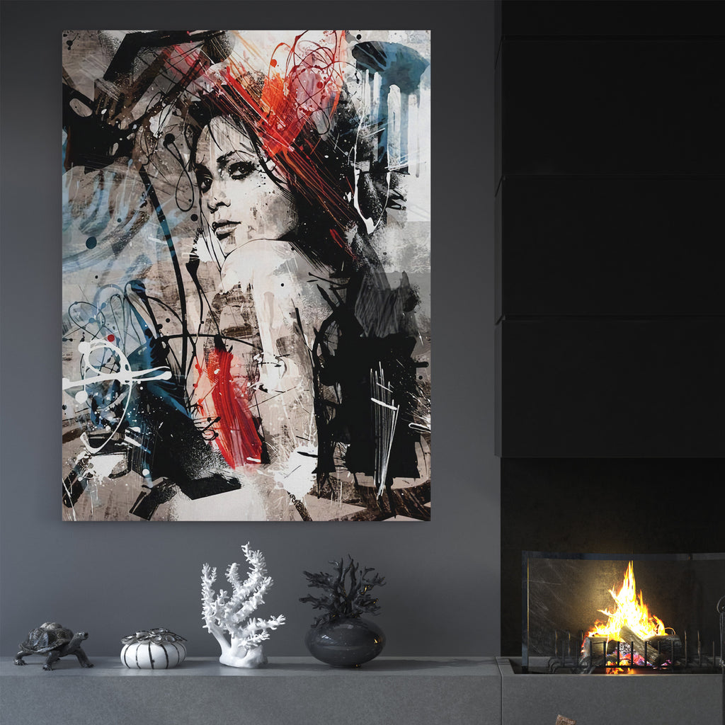 Abstract Woman - Canvas Art