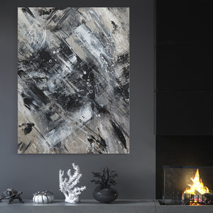 Abstract Grey - Canvas Art