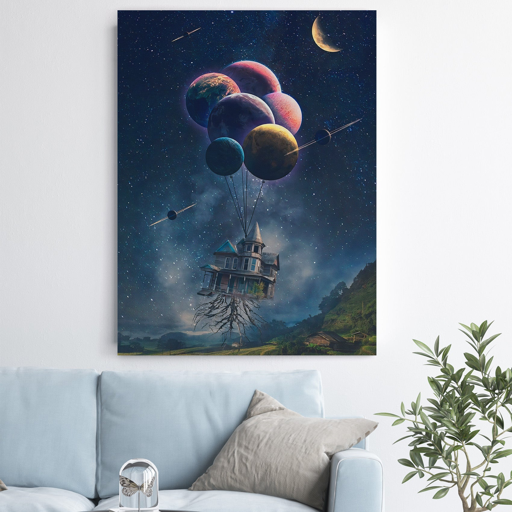 The House In The Universe - Canvas Art