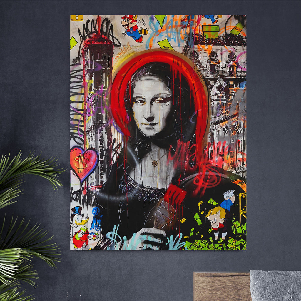 mona lisa canvas art dubai
