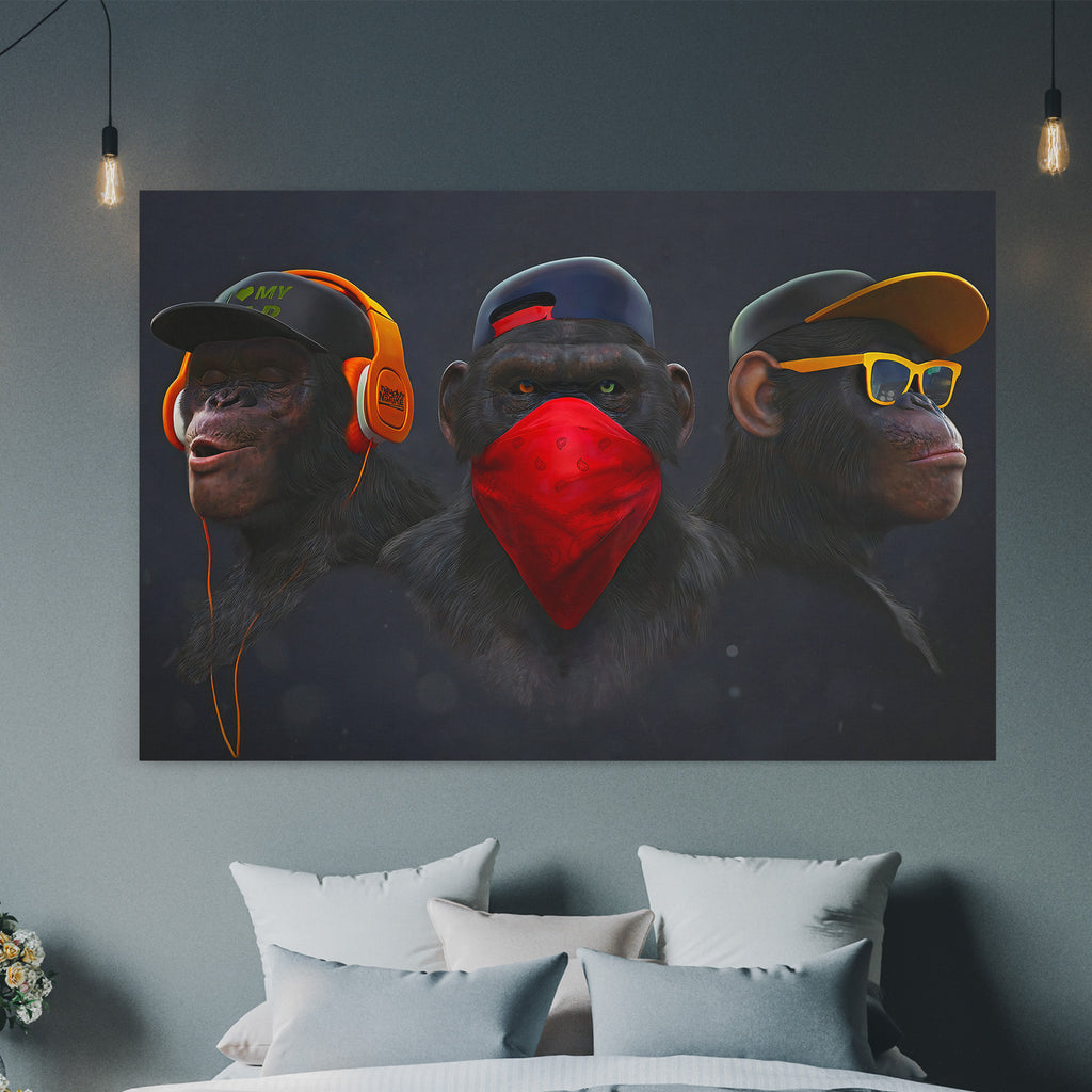 The Three Monkeys - Canvas Art