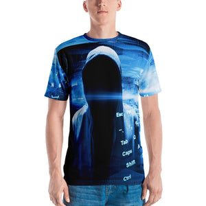 Binary Blue Hacker Men's T-shirt