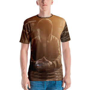 Binary Brown Hacker Men's T-shirt