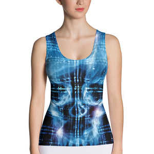Binary Skull Sublimation Cut & Sew Tank Top