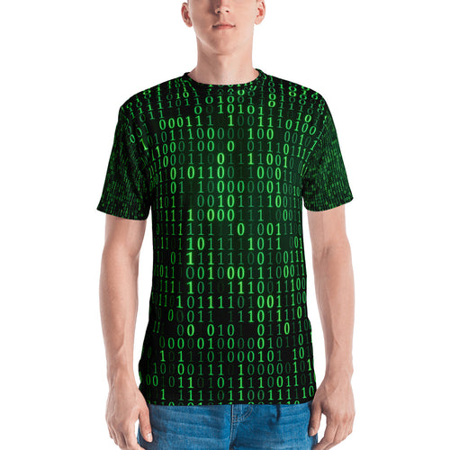 Binary Green Men's T-shirt