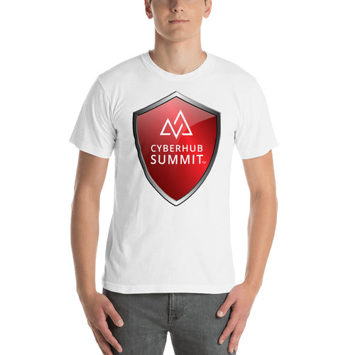 Men's Short Sleeve T-Shirt with Cyberhub Summit Logo