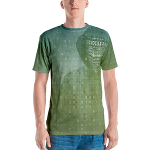 Binary Green Hacker Men's T-shirt
