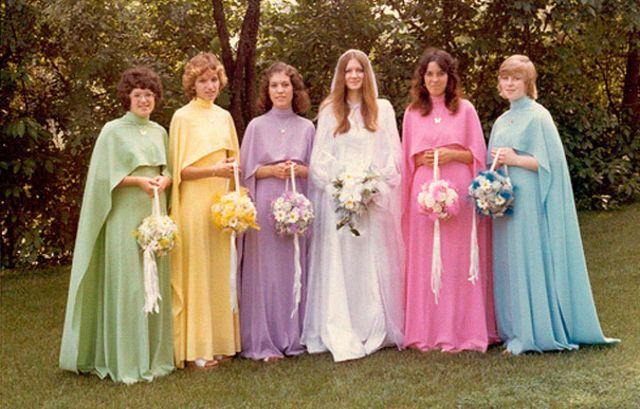 Ugly Vintage Bridesmaids Dresses From The