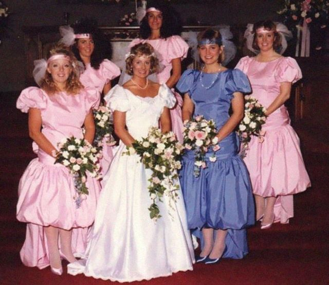 Funny Ugly Wedding Dresses: Ugly Vintage Bridesmaids Dresses From The 70s & 80s